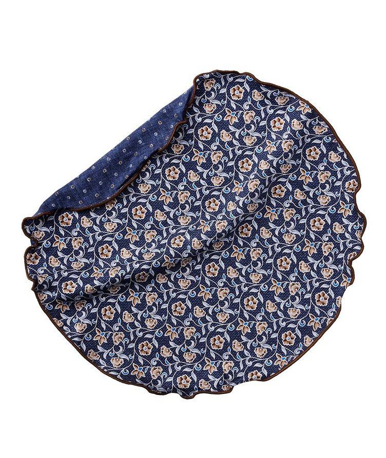 Mouchoir de poche rond imprimé et réversible image 0