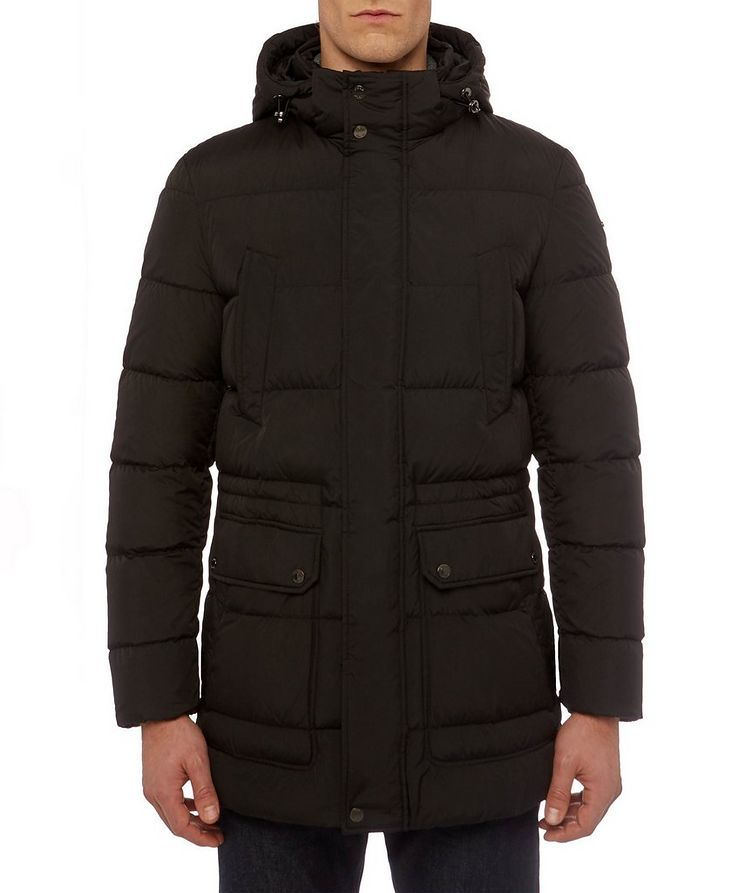 Kaspar Quilted Down Long Parka image 3