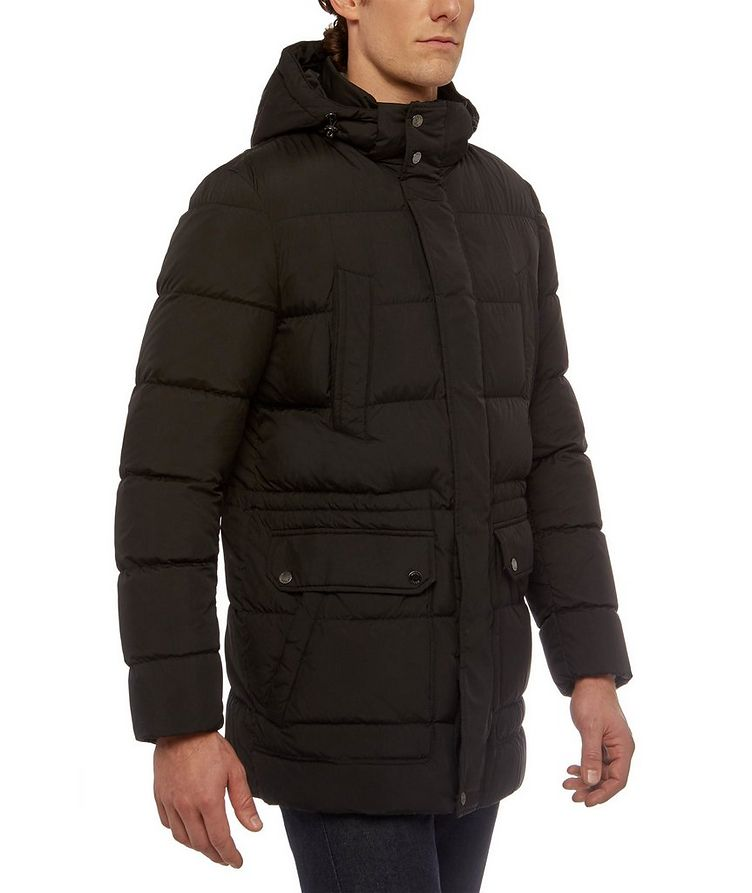 Kaspar Quilted Down Long Parka image 4