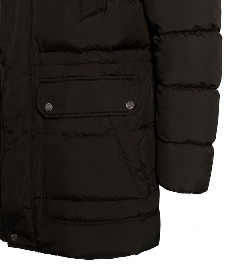 Kaspar Quilted Down Long Parka image 7