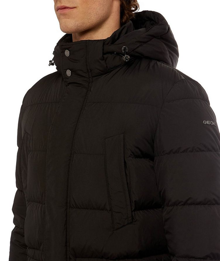 Kaspar Quilted Down Long Parka image 8