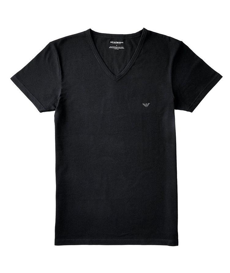 Stretch-Cotton V-Neck T-Shirt image 0