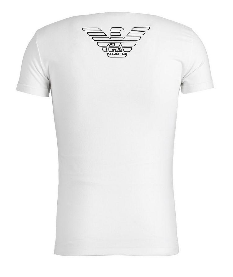 Stretch-Cotton V-Neck T-Shirt image 1
