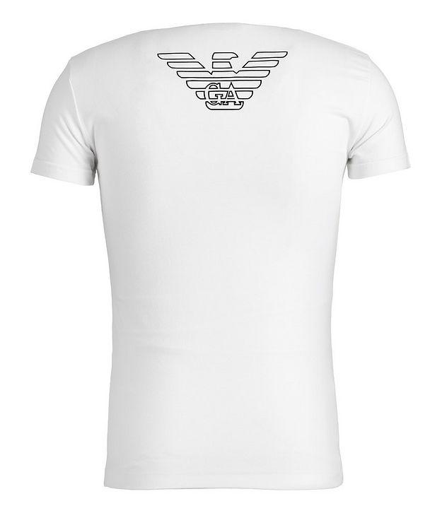 Stretch-Cotton V-Neck T-Shirt picture 2