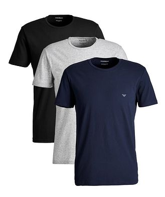 Emporio Armani 3-Pack Cotton T-Shirts