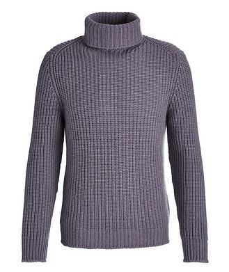 04651/ A TRIP IN A BAG Cable Knit Cashmere Turtleneck