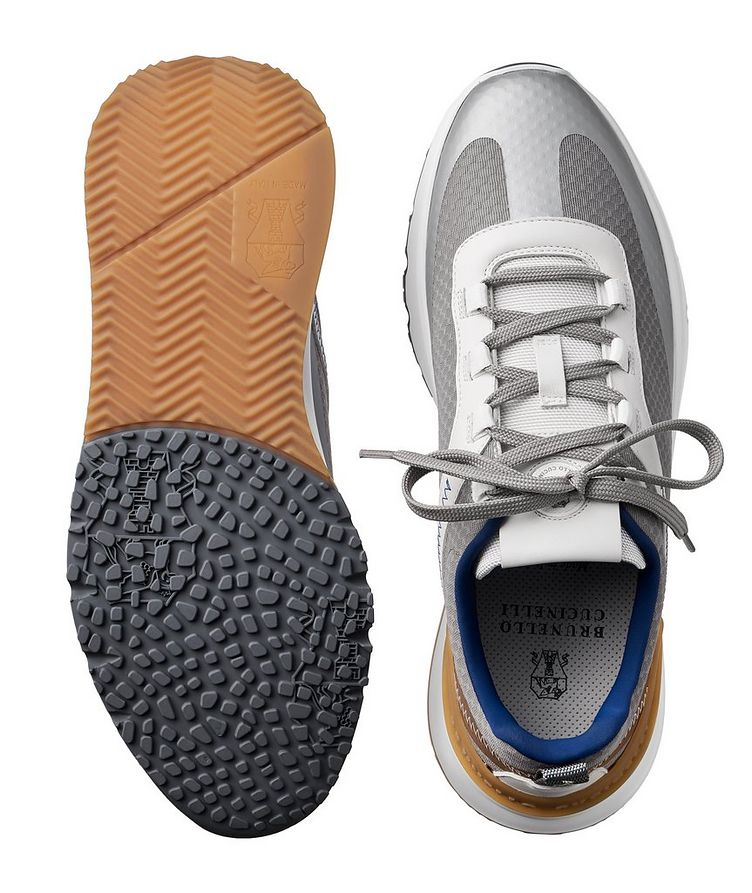 Fabric and Leather Sneakers image 2