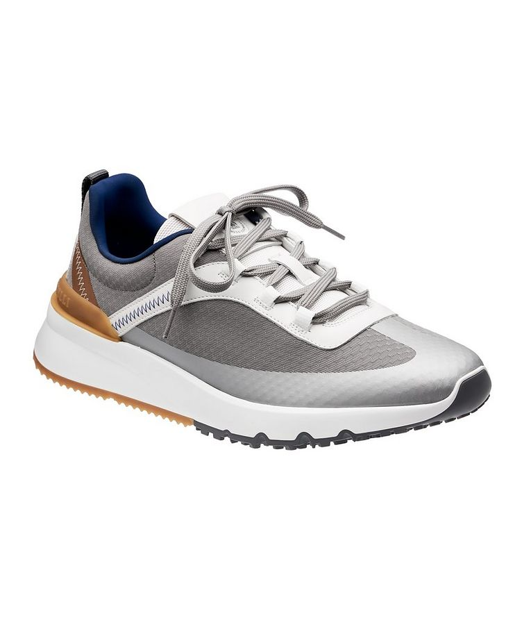 Fabric and Leather Sneakers image 0