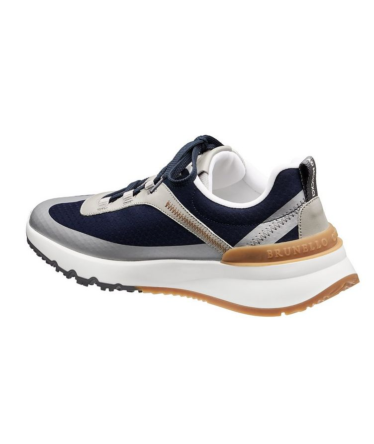 Fabric and Leather Sneakers image 1