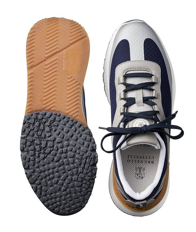 Fabric and Leather Sneakers picture 3