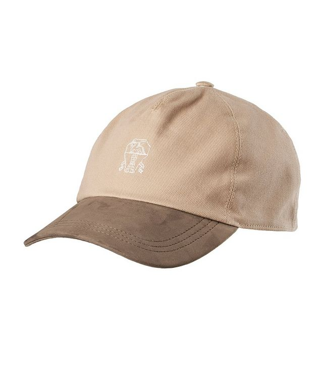 Canvas and Leather Baseball Cap picture 1