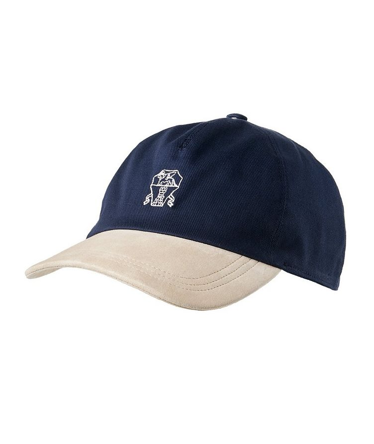Canvas and Leather Baseball Cap image 0