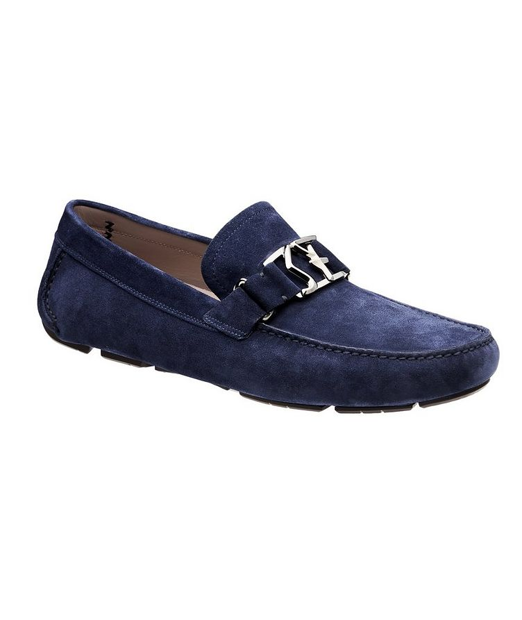 Peter Calfskin Suede Driving Shoes image 0