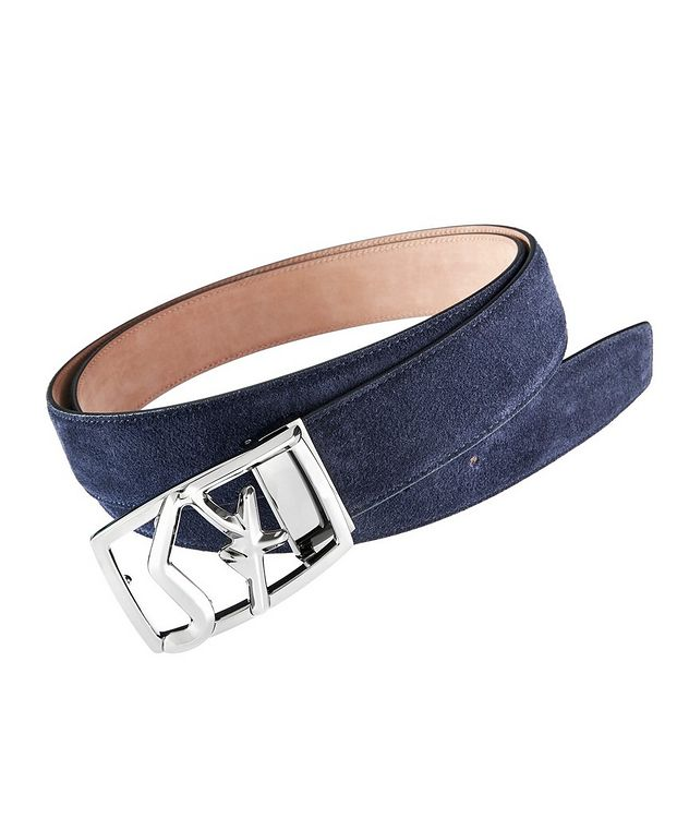 Logo Buckle Suede Belt picture 1