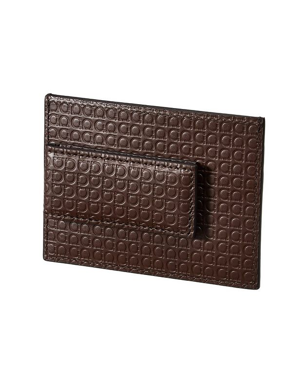 Gancini Embossed Leather Cardholder with Money Clip picture 2