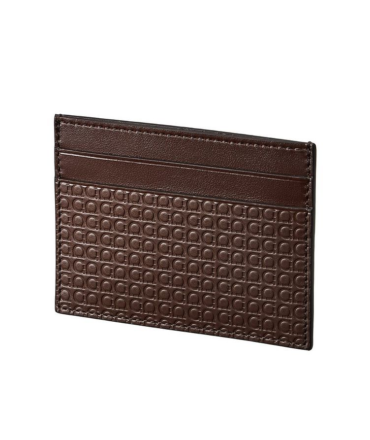 Gancini Embossed Leather Cardholder with Money Clip image 0