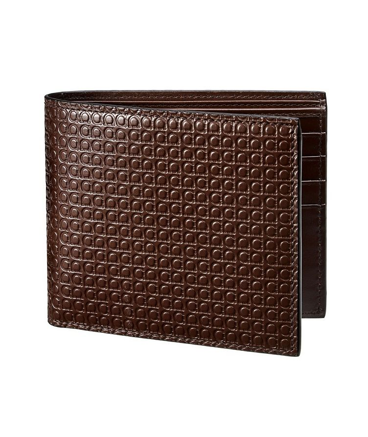 Gancini Embossed Leather Bifold Wallet image 0