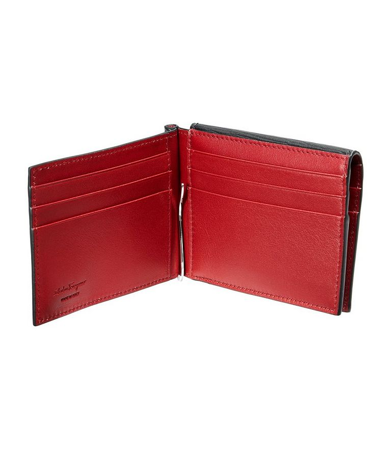 Leather Bifold Wallet with Money Clip image 1