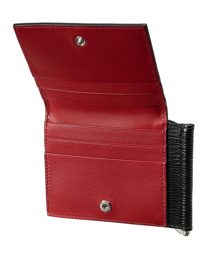 Leather Bifold Wallet with Money Clip image 3