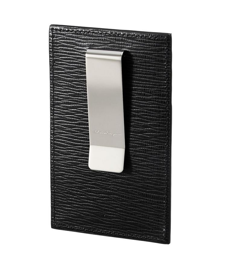 Leather Cardholder with Money Clip image 1