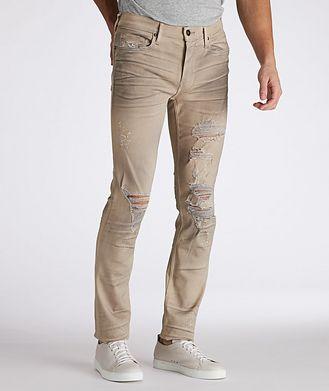 Paige Lennox Slim Transcend Destructed Jeans