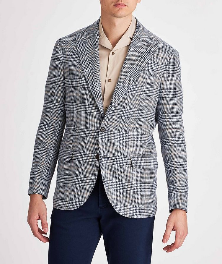 Checked Linen, Wool, and Silk Sports Jacket image 1