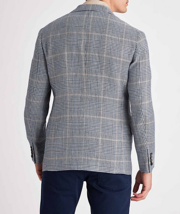 Checked Linen, Wool, and Silk Sports Jacket image 2