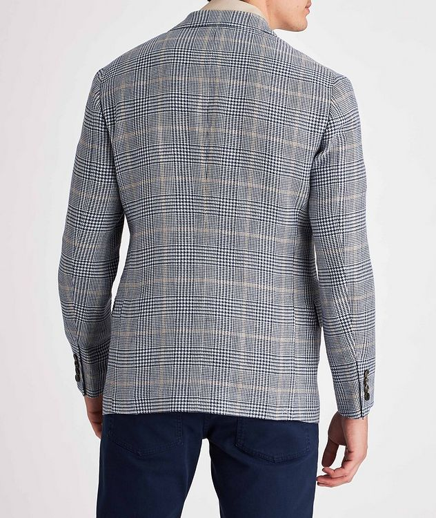 Checked Linen, Wool, and Silk Sports Jacket picture 3