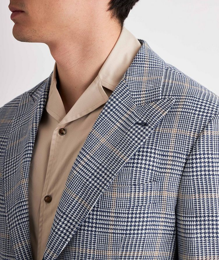 Checked Linen, Wool, and Silk Sports Jacket image 3