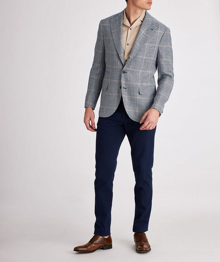 Checked Linen, Wool, and Silk Sports Jacket image 4