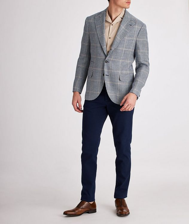 Checked Linen, Wool, and Silk Sports Jacket picture 5
