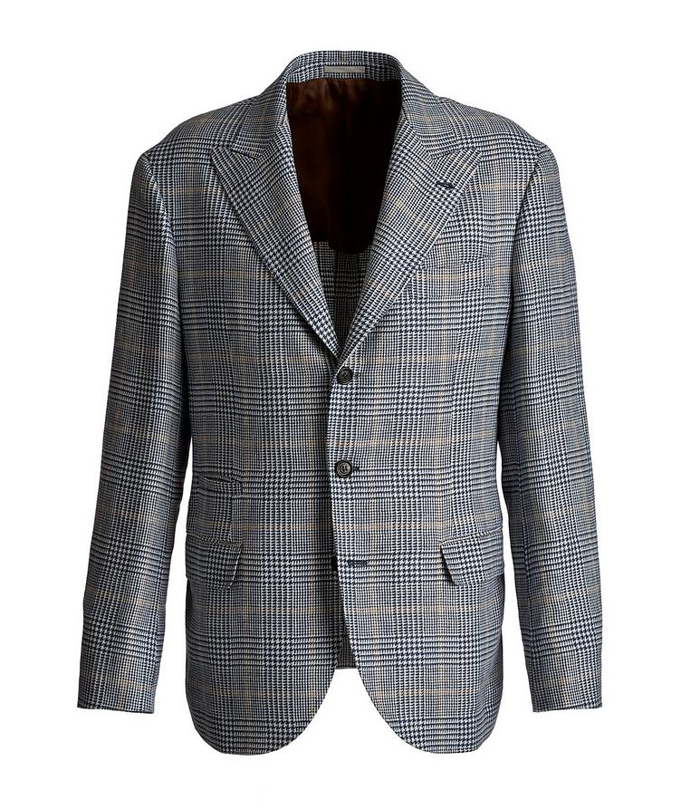 Checked Linen, Wool, and Silk Sports Jacket image 0