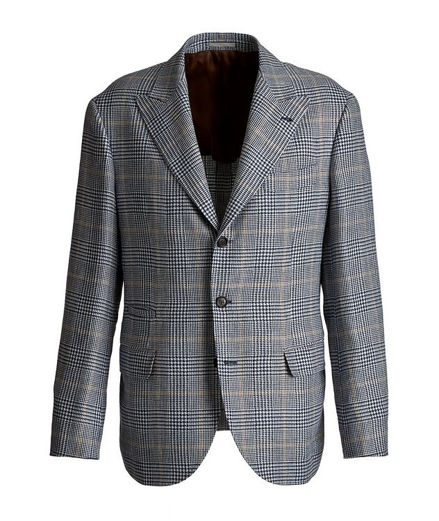 Checked Linen, Wool, and Silk Sports Jacket picture 1
