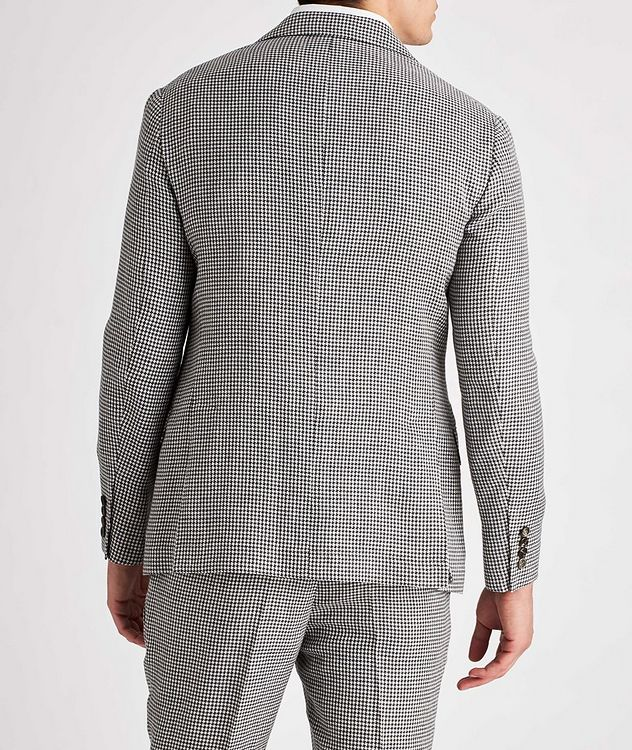 Houndstooth Linen, Wool, and Silk Sports Jacket picture 3