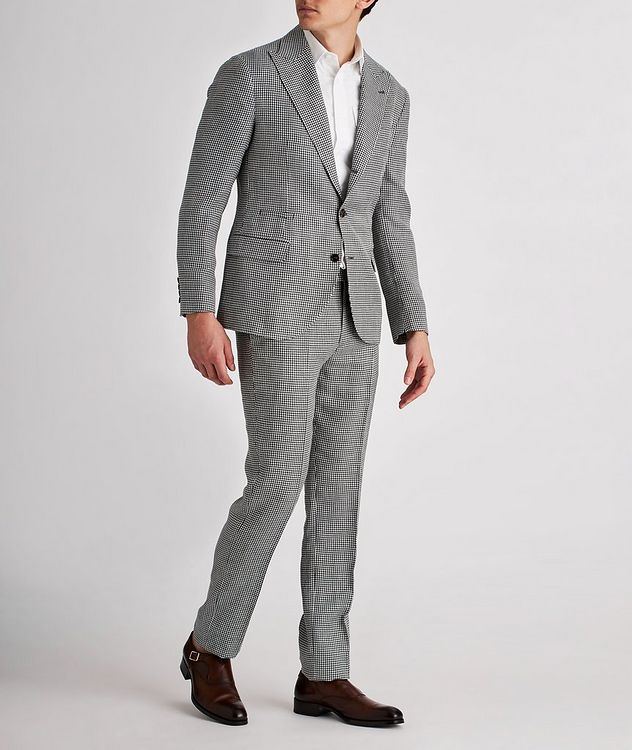 Houndstooth Linen, Wool, and Silk Sports Jacket picture 5