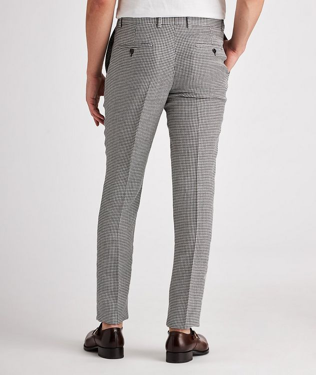 Contemporary Fit Houndstooth Linen, Wool, Silk Dress Pants picture 3