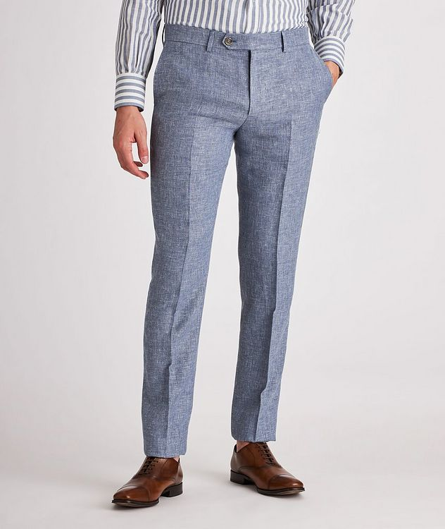 Contemporary Fit Open Weave Linen, Wool, Silk Dress Pants picture 2