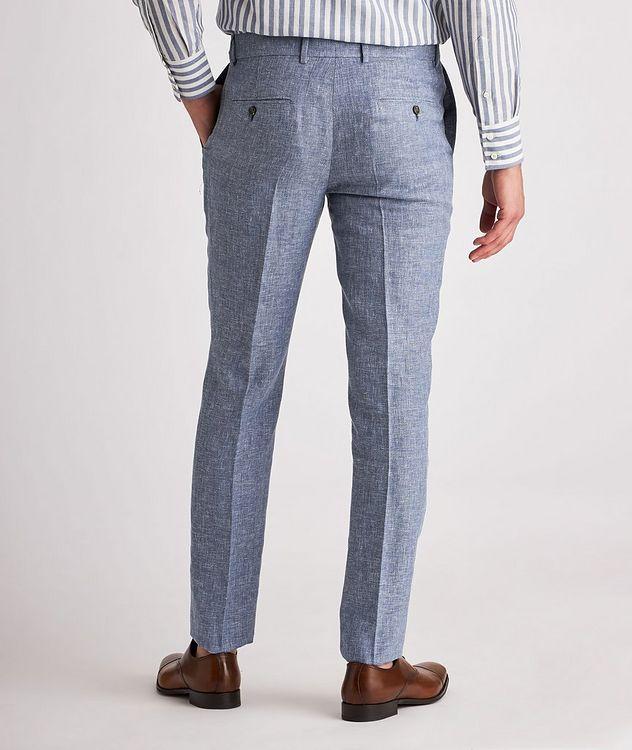 Contemporary Fit Open Weave Linen, Wool, Silk Dress Pants picture 3