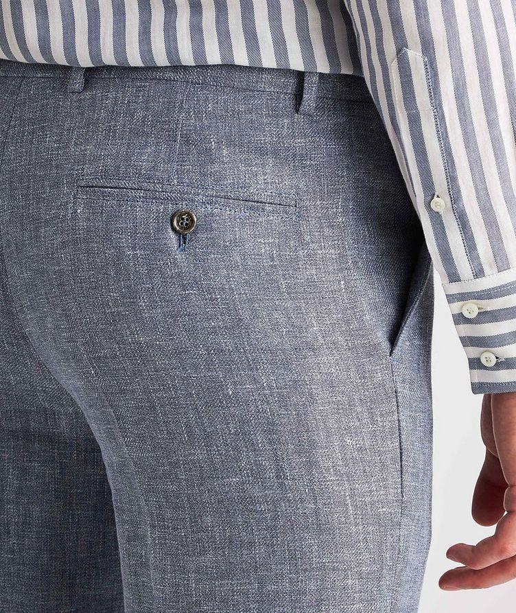 Contemporary Fit Open Weave Linen, Wool, Silk Dress Pants image 3