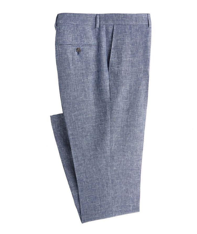 Contemporary Fit Open Weave Linen, Wool, Silk Dress Pants image 0