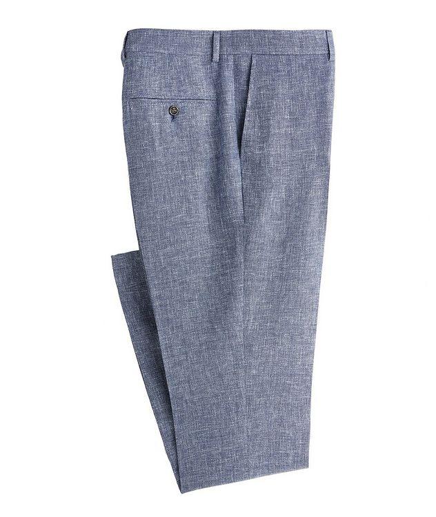 Contemporary Fit Open Weave Linen, Wool, Silk Dress Pants picture 1