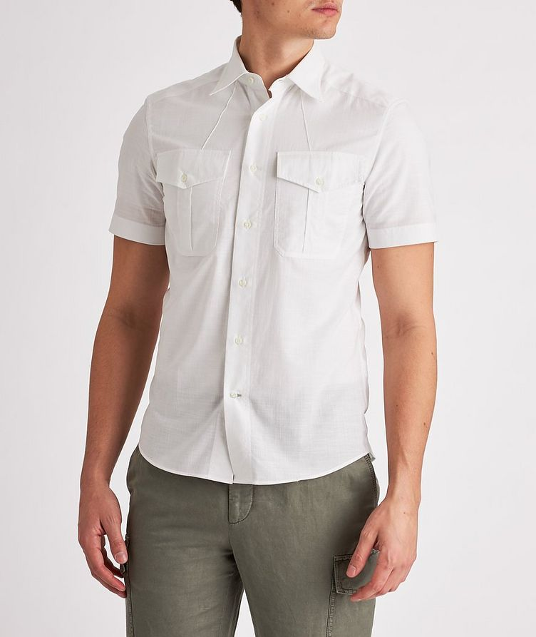 Contemporary-Fit Short-Sleeve Cotton Shirt image 1