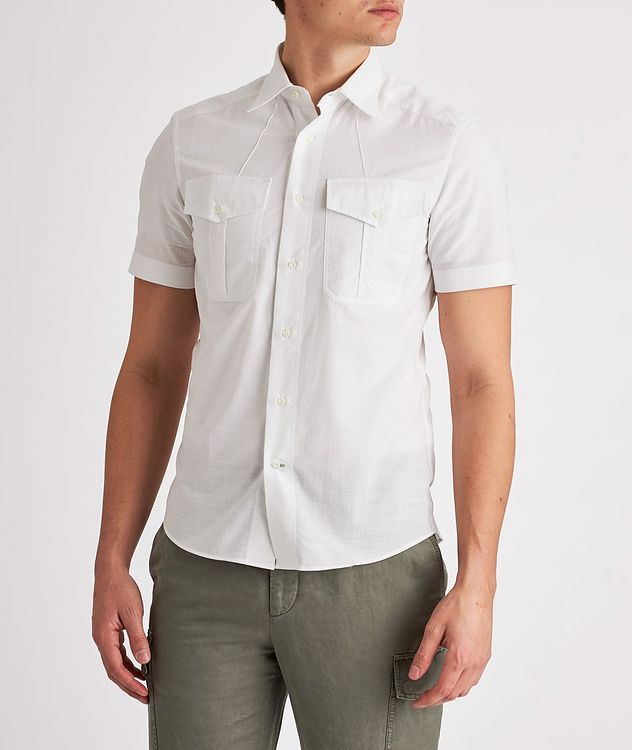 Contemporary-Fit Short-Sleeve Cotton Shirt picture 2