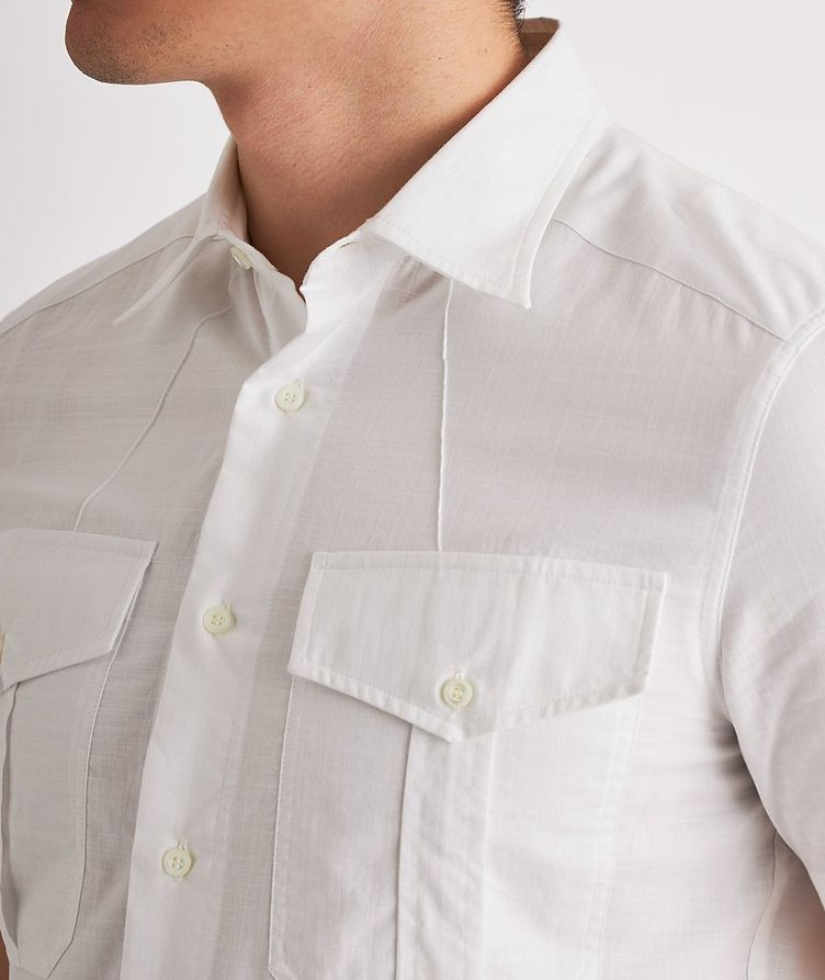 Contemporary-Fit Short-Sleeve Cotton Shirt image 3