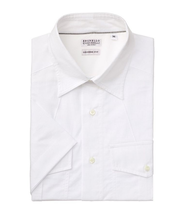 Contemporary-Fit Short-Sleeve Cotton Shirt image 0