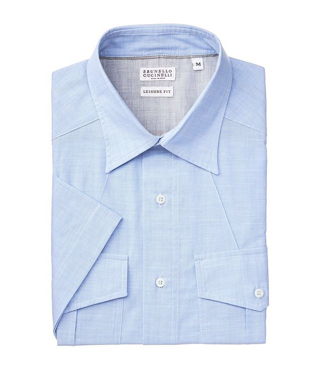 Contemporary-Fit Short-Sleeve Cotton Shirt picture 1