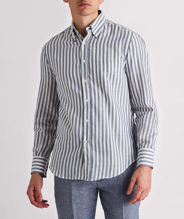 Contemporary-Fit Striped Cotton Shirt picture 2