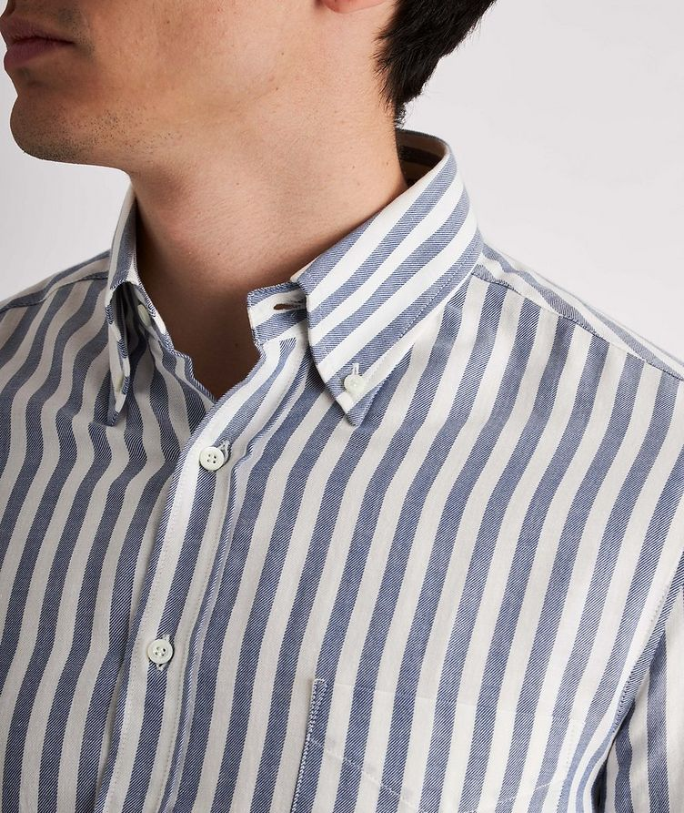 Contemporary-Fit Striped Cotton Shirt image 3
