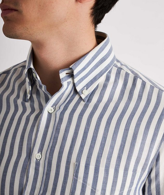 Contemporary-Fit Striped Cotton Shirt picture 4
