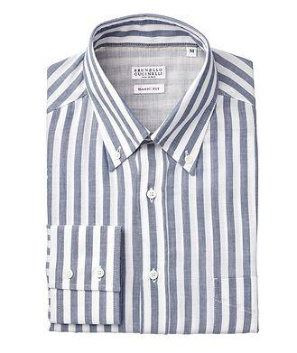Brunello Cucinelli Contemporary-Fit Striped Cotton Shirt